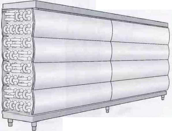 Рис.17 Трубы  в теплообменнике трубчатого типа смонтированы в компактный блок.