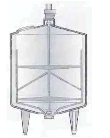 Рис.5 Изолированная емкость  со скребковой мешалкой для вязких продуктов.