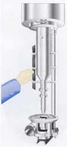 Рис.22 Снятие лопастей при опущенном положении ротора.