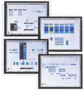 Рис.7 Примеры  получаемой оператором информации и интерактивных окон  на дисплее