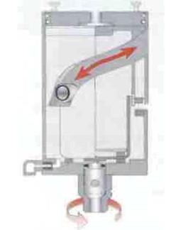 Рис.11 Принцип действия воздушного привода шиберной заслонки.