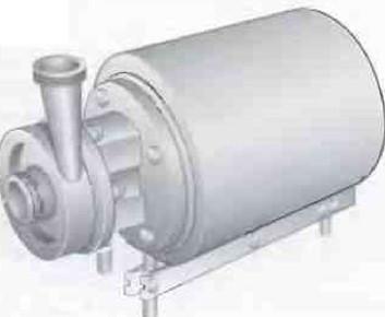 Рис.1 В качестве продуктового насоса на молочных заводах наиболее часто используется центробежный насос.